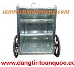 Xe gom rác công cộng, xe gom rác tôn, xe gom rác 500 lít giá rẻ